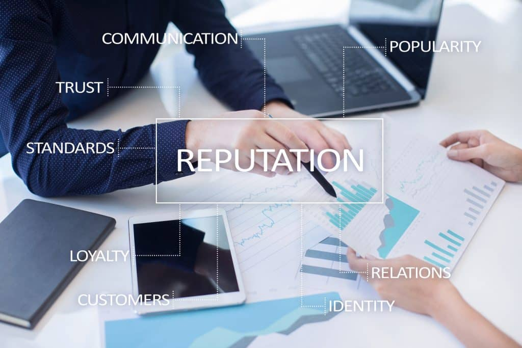 Reputation And Customer Relationship Business Concept On Virtual