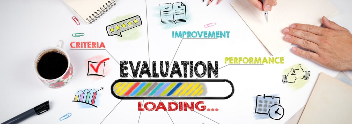 evaluation concept by online business reputation management