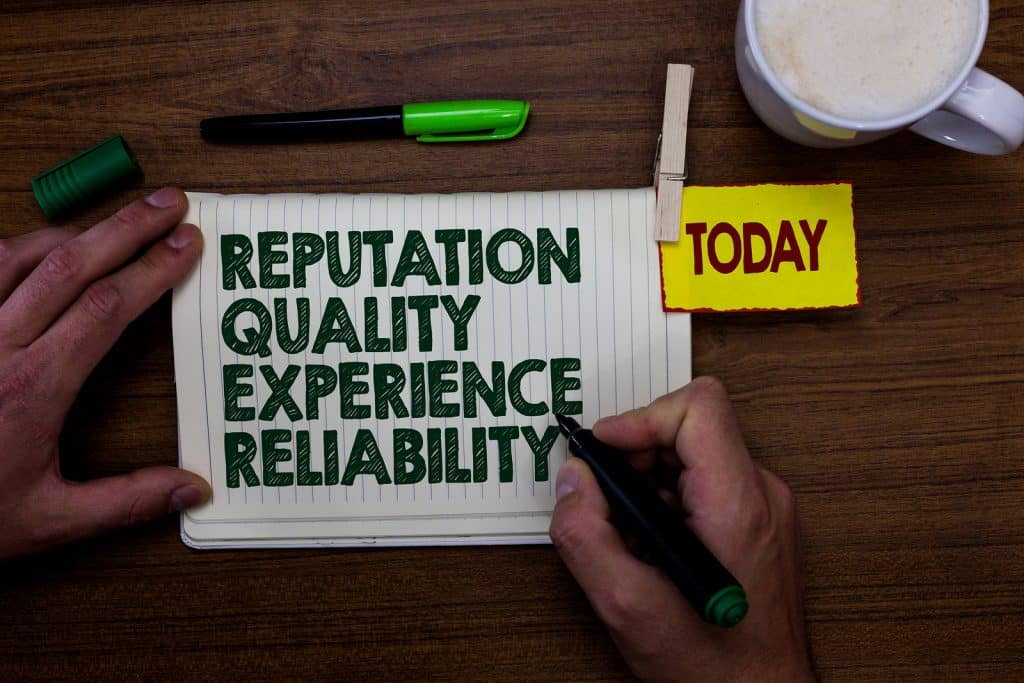 Reputation quality experience reliability