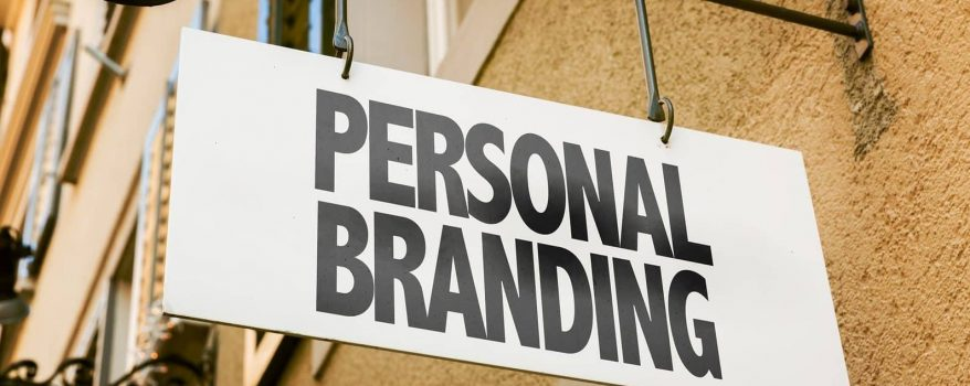 Personal Branding sign in a conceptual image