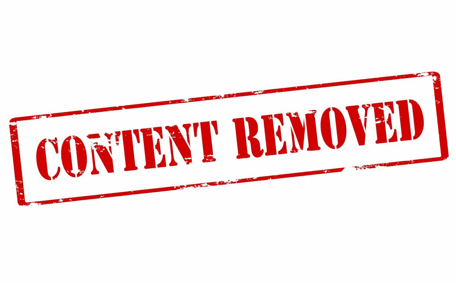 remove negative content