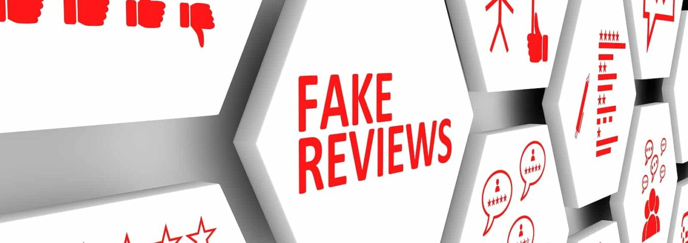 Fake Reviews Concept Cell Background 3d Illustration